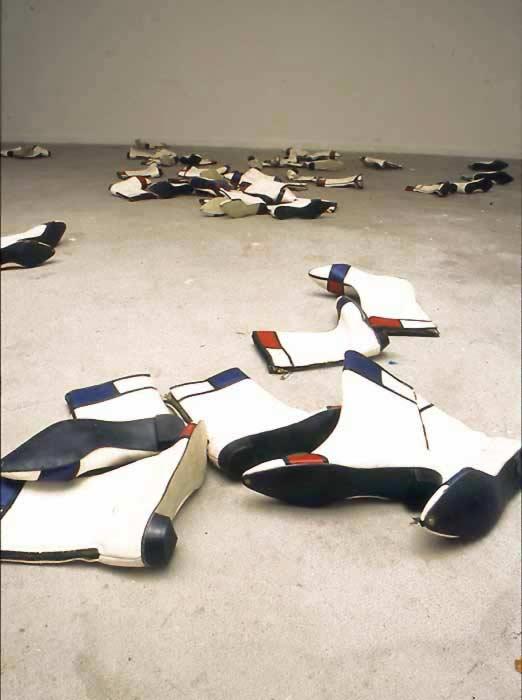 Sylvie Fleury, Mondrian Boots, 1995